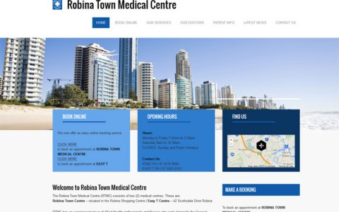 Robina Town Medical Centre Starts New Website