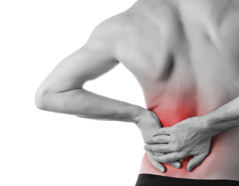 Low level laser treatment for lower back pain