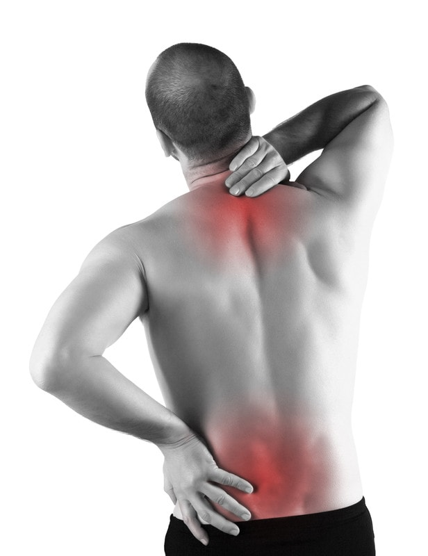 back pain relief areas upper back and lower back