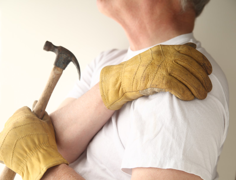 shoulder bursitis from occupational overuse