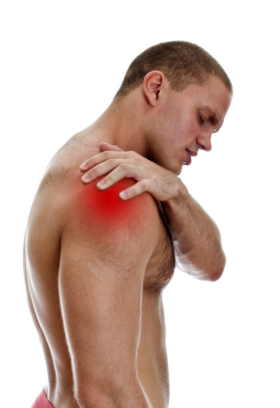 Man experiencing shoulder pain due to rotator cuff syndrome
